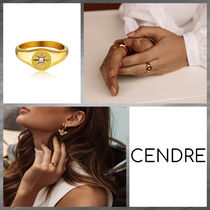 CENDRE Casual Style Party Style 18K Gold Elegant Style Rings