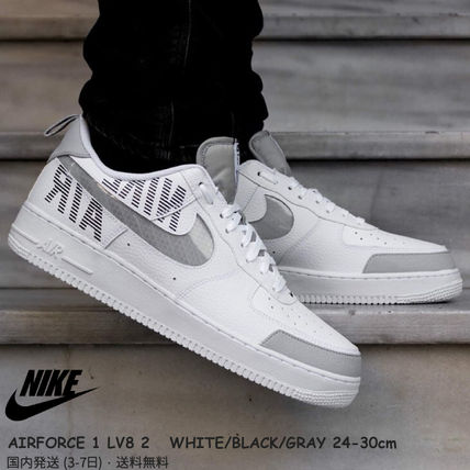 Nike AIR FORCE 1 2019 20AW Street Style Plain Leather Sneakers