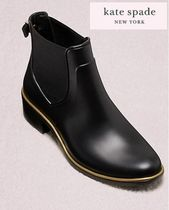 kate spade new york Round Toe Casual Style Plain Leather Chelsea Boots