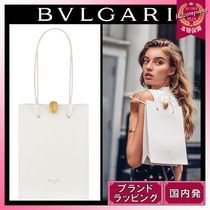Bvlgari Casual Style Calfskin Collaboration Plain Leather