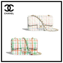 CHANEL Glen Patterns Casual Style Calfskin Chain Office Style