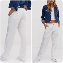 POLO RALPH LAUREN Casual Style Street Style Plain Cotton Long Wide Leg Pants