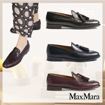 MaxMara Casual Style Leather Party Style Loafer & Moccasin Shoes