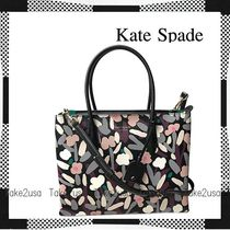 kate spade new york Flower Patterns Casual Style 2WAY Leather Elegant Style