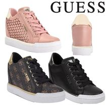 Guess Wedge Round Toe Lace-up Casual Style Street Style Plain