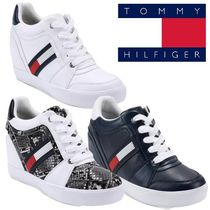 Tommy Hilfiger Round Toe Rubber Sole Lace-up Casual Style Street Style