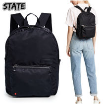 STATE Casual Style Plain Backpacks
