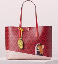 kate spade new york Casual Style Street Style Collaboration Leather Office Style