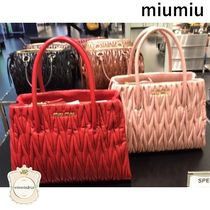 MiuMiu Leather Elegant Style Handbags