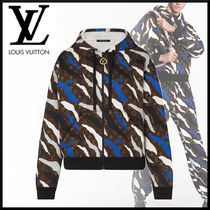 Louis Vuitton Camouflage Monogram Unisex Collaboration Long Sleeves