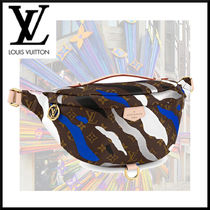 Louis Vuitton Camouflage Monogram Casual Style Unisex Canvas Collaboration