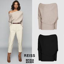 REISS Long Sleeves Plain Off the Shoulder