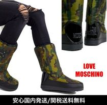 Moschino Camouflage Casual Style Street Style Boots Boots