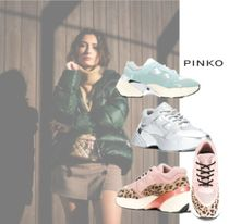 PINKO Round Toe Casual Style Low-Top Sneakers