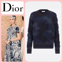Christian Dior Camouflage Casual Style Cashmere Long Sleeves Office Style