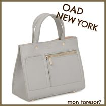 OAD NEW YORK 2WAY Plain Leather Totes