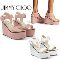 Jimmy Choo Platform Casual Style Plain Other Animal Patterns Leather