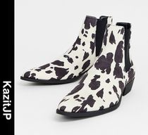 ASOS Faux Fur Other Animal Patterns Chelsea Boots Chelsea Boots