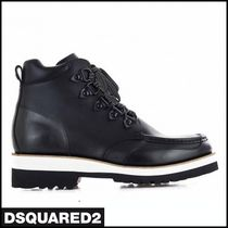 D SQUARED2 Mountain Boots Plain Leather Sneakers