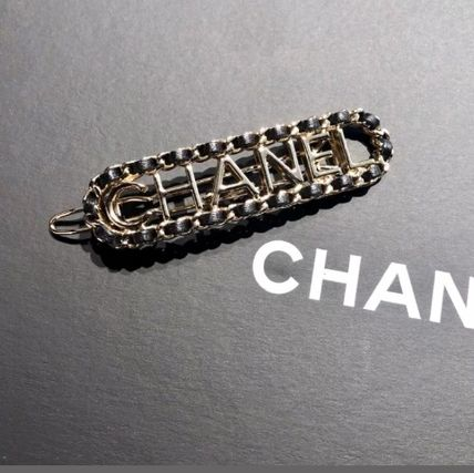 CHANEL Costume Jewelry Barettes Casual Style Blended Fabrics