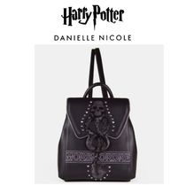 DANIELLE NICOLE Casual Style Collaboration Plain Leather Backpacks