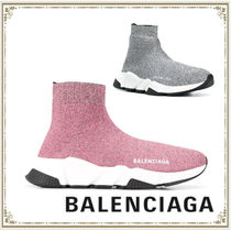 BALENCIAGA Round Toe Rubber Sole Casual Style Office Style