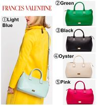 FRANCIS VALENTINE Casual Style 2WAY Plain Leather Elegant Style Shoulder Bags