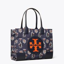 Tory Burch ELLA TOTE Flower Patterns Casual Style Nylon Totes