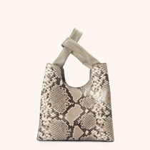 elleme Casual Style 2WAY Other Animal Patterns Elegant Style Totes