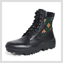 MCM Camouflage Leather Boots