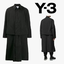 Y-3 Blended Fabrics Plain Long Coats
