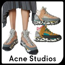 Acne Platform Round Toe Rubber Sole Casual Style Unisex Suede