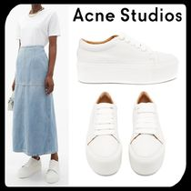 Acne Platform Round Toe Rubber Sole Casual Style Unisex