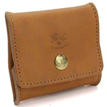 IL BISONTE Unisex Leather Coin Cases