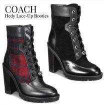 Coach Other Check Patterns Plain Toe Rubber Sole Casual Style