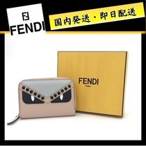 FENDI BAG BUGS Studded Leather Coin Cases