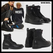 DIESEL Plain Leather Boots