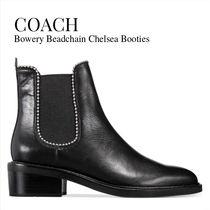Coach Rubber Sole Casual Style Plain Leather Ankle & Booties Boots