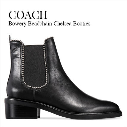 Rubber Sole Casual Style Plain Leather Ankle & Booties Boots
