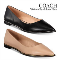 Coach Rubber Sole Casual Style Plain Leather Elegant Style