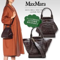 MaxMara Casual Style 3WAY Other Animal Patterns Leather Office Style
