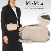 MaxMara Casual Style Calfskin 2WAY Plain Leather Party Style