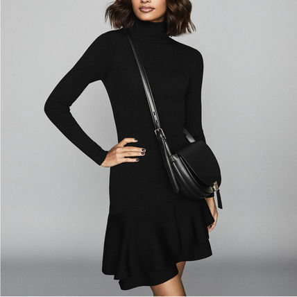 Short Casual Style Tight Flared Long Sleeves Plain
