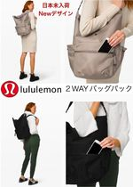 lululemon Casual Style Nylon A4 2WAY Plain Office Style Backpacks