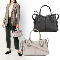 TOD'S D-Styling 2WAY Plain Leather Handbags