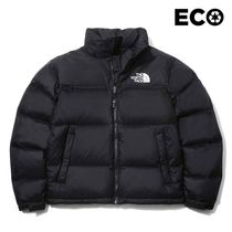 THE NORTH FACE Nuptse Unisex Plain Logo Down Jackets
