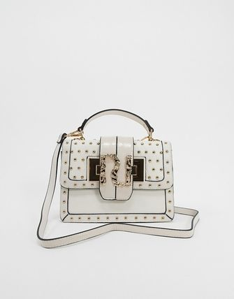 Studded Party Style Elegant Style Shoulder Bags