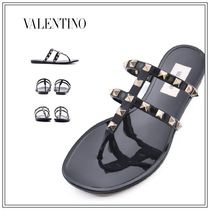 VALENTINO Rubber Sole Casual Style Street Style Plain Party Style