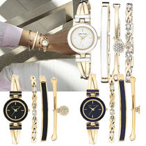 Anne Klein Round Quartz Watches With Jewels Elegant Style