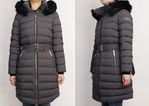 Burberry Street Style Plain Medium Long Shearling Down Jackets